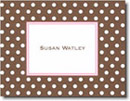 Boatman Geller Stationery - Brown Dot