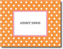 Boatman Geller Stationery - Orange Dot