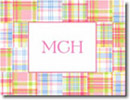 Boatman Geller Stationery - Pink Madras Patch