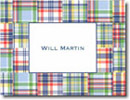 Boatman Geller Stationery - Blue Madras Patch