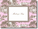 Boatman Geller Stationery - Pink & Brown Toile