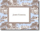 Boatman Geller Stationery - Blue & Brown Toile