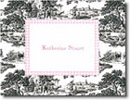 Boatman Geller Stationery - Black Toile with Pink Check