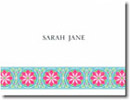 Boatman Geller Stationery - Bright Blue Floral Band