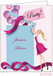 Bonnie Marcus Personalized Stationery/Thank You Notes - Balloon Gift Girl (Blonde)