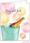 Bonnie Marcus Personalized Stationery/Thank You Notes - Champagne Bubbles