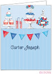 Bonnie Marcus Personalized Stationery/Thank You Notes - Candy Buffet (Blue)
