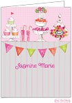 Bonnie Marcus Personalized Stationery/Thank You Notes - Candy Buffet (Pink)
