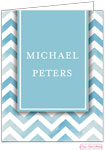 Bonnie Marcus Personalized Stationery/Thank You Notes - Blue Chevron