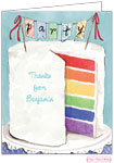 Bonnie Marcus Personalized Stationery/Thank You Notes - Colorful Party Cake