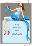 Bonnie Marcus Personalized Stationery/Thank You Notes - Expecting A Big Gift (Blue/Brunette)