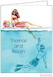 Bonnie Marcus Personalized Stationery/Thank You Notes - Cool At The Pool