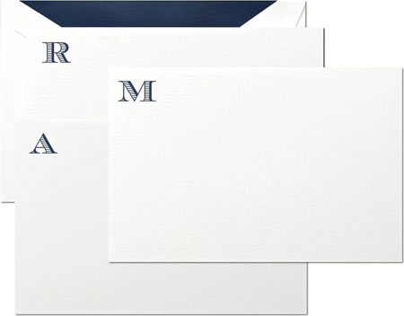 Crane Boxed Stationery Sets - Initial Correspondence Card