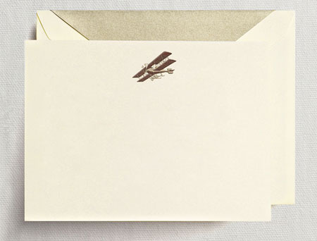 Crane Boxed Stationery Sets - Hand Engraved Airplane Correspondence Card