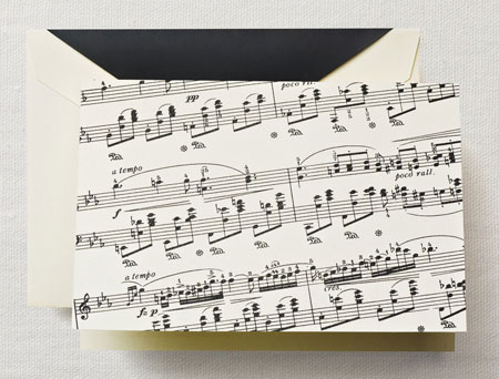 Crane Boxed Stationery Sets - Sheet Music Note
