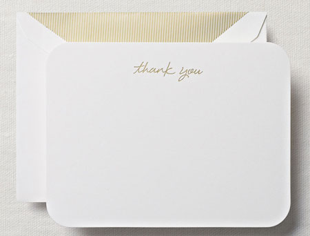 Crane Boxed Stationery Sets - Round Corner Thank You Card