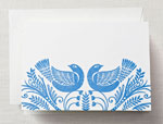 Crane Boxed Stationery Sets - Letterpress Birds Note