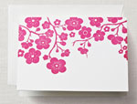 Crane Boxed Stationery Sets - Letterpress Plum Blossom Note