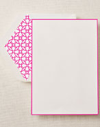 Crane Boxed Stationery Sets - Raspberry Bordered Half Sheet