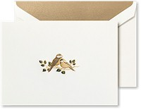 Crane Boxed Stationery Sets - Hand Engraved Love Bird Note