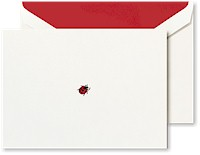 Crane Boxed Stationery Sets - Hand Engraved Lady Bug Note