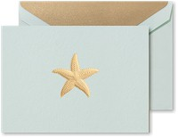 Crane Boxed Stationery Sets - Hand Engraved Starfish Note