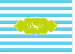 Devora Designs - Stationery (Blue Lagoon Stripes) - From More Than Paper