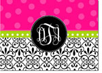 Devora Designs - Stationery (Damask Hot Pink Dot) - From More Than Paper