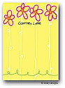 Dinky Designs Flat Note Stationery - Daisy Garden