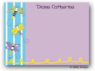 Dinky Designs Flat Note Stationery - Fireflies