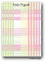 Dinky Designs Flat Note Stationery - Preppy Plaid