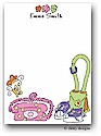 Dinky Designs Flat Note Stationery - Teenie Boopper