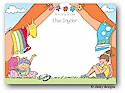 Dinky Designs Flat Note Stationery - Girls In A Tent