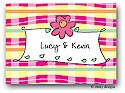 Dinky Designs Folded Note Stationery - Pretty Plaid