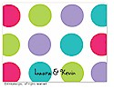 Dinky Designs Folded Note Stationery - Pixie Dots