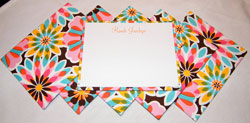HB Designs - Fabric-Backed Stationery/Thank You Notes (Create-Your-Own Stationery for Girls)