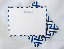 HB Designs - Fabric-Backed Stationery/Thank You Notes (Create-Your-Own Stationery for Women)