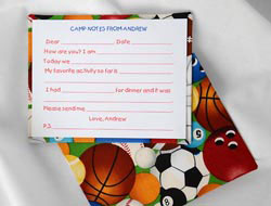 HB Designs - Fabric-Backed Stationery/Thank You Notes (Boys Camp Fill-In)