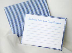 HB Designs - Fabric-Backed Stationery/Thank You Notes (Create-Your-Own Stationery for Boys)