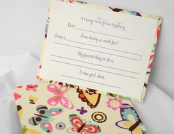HB Designs - Fabric-Backed Stationery/Thank You Notes (Girl Camp Fill-In)