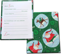 HB Designs - Fabric-Backed Stationery/Thank You Notes (Santa Fill-In Thank You Note)