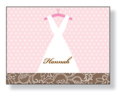Inkwell - Folded Note Stationery (Vintage Dress)