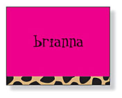 Inkwell - Folded Note Stationery (Pink Leopard)