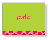 Inkwell - Folded Note Stationery (Lime Leopard)