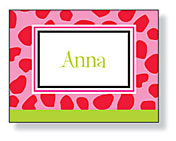 Inkwell - Folded Note Stationery (Leopard Lime)