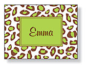 Inkwell - Folded Note Stationery (Leopard Box Lime)