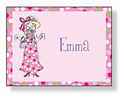 Inkwell - Folded Note Stationery (Little Lady)