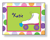Inkwell - Folded Note Stationery (Girls Rollerskate)