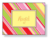 Inkwell - Folded Note Stationery (Strawberry Stripe)