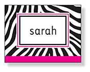 Inkwell - Folded Note Stationery (Zebra Pink)